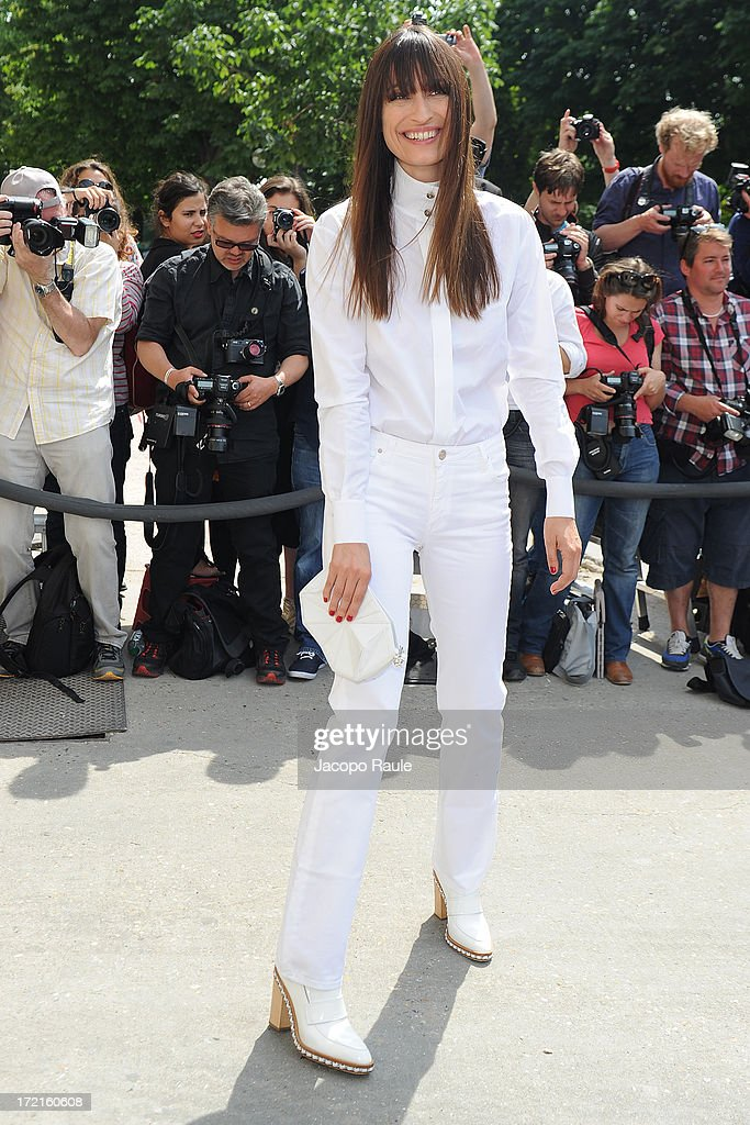 <a gi-track='captionPersonalityLinkClicked' href=/galleries/search?phrase=Caroline+de+Maigret&family=editorial&specificpeople=7082665 ng-click='$event.stopPropagation()'>Caroline de Maigret</a> attends the Chanel show as part of Paris Fashion Week Haute-Couture Fall/Winter 2013-2014 at Grand Palais on July 2, 2013 in Paris, France.