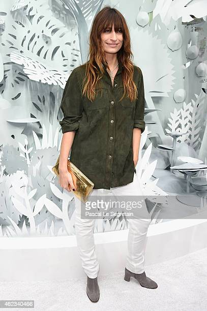 Caroline de Maigret attends the Chanel show as part of Paris Fashion Week Haute Couture Spring/Summer 2015 on January 27 2015 in Paris France