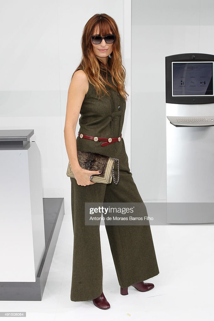 Caroline de Maigret attends the Chanel show as part of the Paris Fashion Week Womenswear Spring/Summer 2016 on October 6 2015 in Paris France