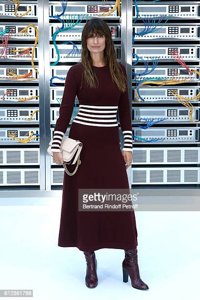 Caroline de Maigret attends the Chanel show as part of the Paris Fashion Week Womenswear Spring/Summer 2017 on October 4 2016 in Paris France