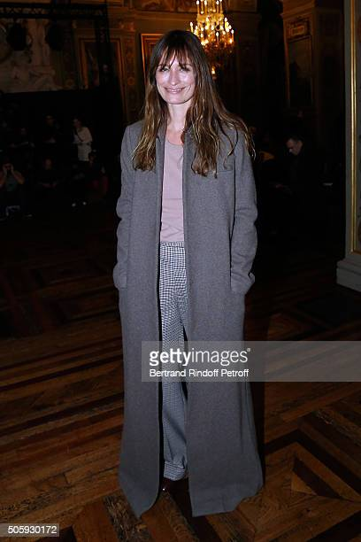 Caroline de Maigret attends the Haider Ackermann Menswear Fall/Winter 20162017 show as part of Paris Fashion Week on January 20 2016 in Paris France