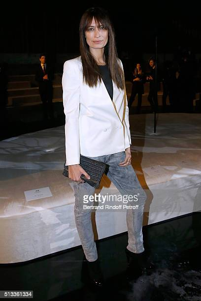 Caroline de Maigret attends the HM Studio show as part of the Paris Fashion Week Womenswear Fall/Winter 2016/2017 on March 2 2016 in Paris France