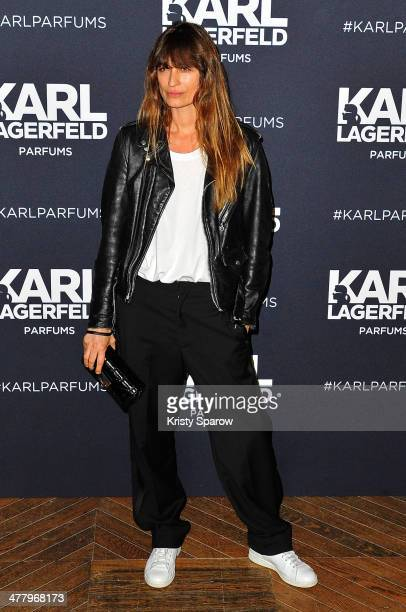 Caroline de Maigret attends the Karl Lagerfeld new perfume launch at Palais Brongniart on March 11 2014 in Paris France