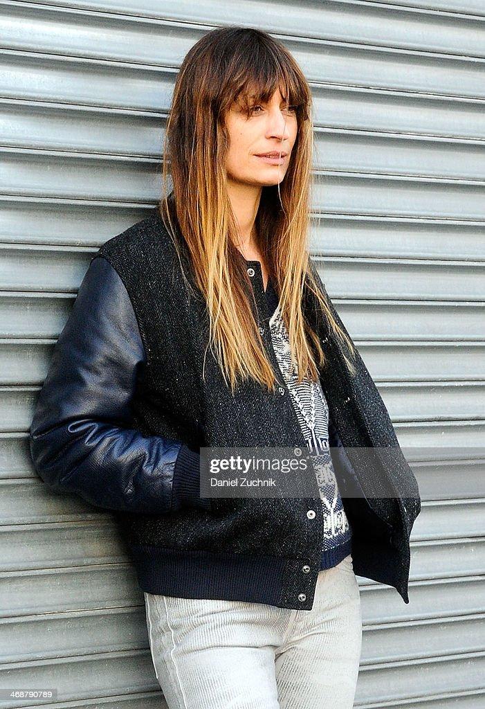Caroline de Maigret attends the Rodarte show on February 11, 2014 in New York City.