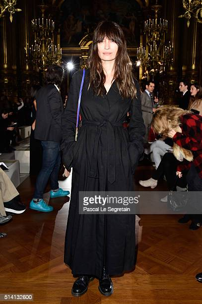 Caroline de Maigret attends the Stella McCartney show as part of the Paris Fashion Week Womenswear Fall/Winter 2016/2017 on March 7 2016 in Paris...