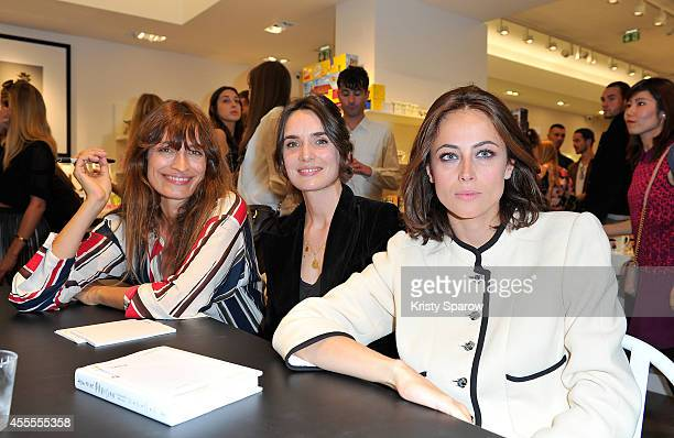 Caroline De Maigret Audrey Diwan and Anne Berest pose at Colette during their book signing 'How to Be Parisian Wherever You Are Love Style and Bad...