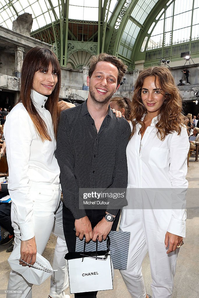 Caroline de Maigret, Derck Blasberg and Alexia Niedzielski attend the Chanel show as part of Paris Fashion Week Haute-Couture Fall/Winter 2013-2014 at Grand Palais on July 2, 2013 in Paris, France.