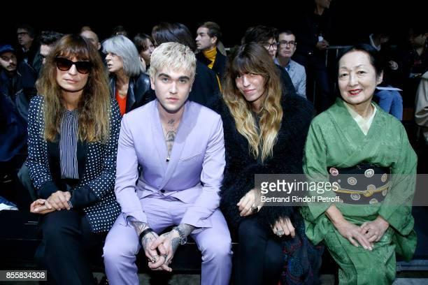 Caroline de Maigret GabrielKane DayLewis Lou Doillon and Countess Setsuko Klossowska de Rola attend the Haider Ackermann show as part of the Paris...