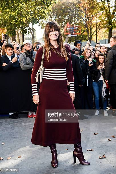Caroline de Maigret is seen arriving at Chanel Fashion show during Paris Fashion Week Spring/Summer 2017 on October 4 2016 in Paris France