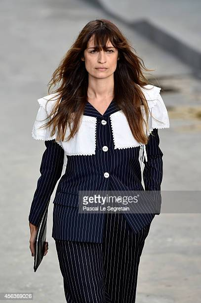 Caroline de Maigret walks the runway during the Chanel show as part of the Paris Fashion Week Womenswear Spring/Summer 2015 on September 30 2014 in...