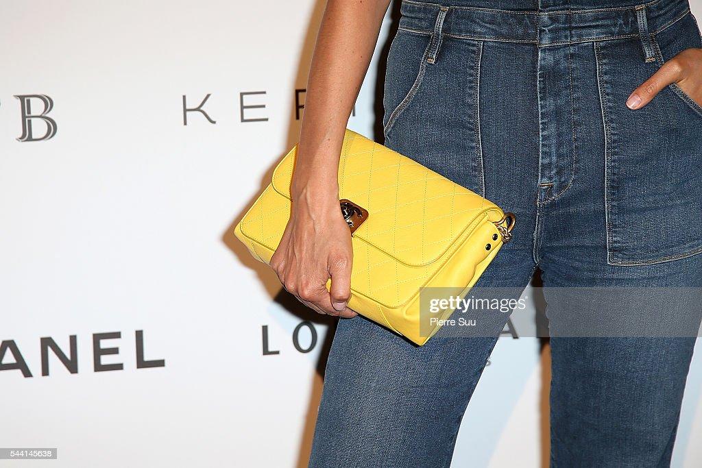 Caroline De Maigret,handbag detail,attends the ANDAM Fashion Award Coktail Party at Ministere de la Culture on July 1, 2016 in Paris, France.