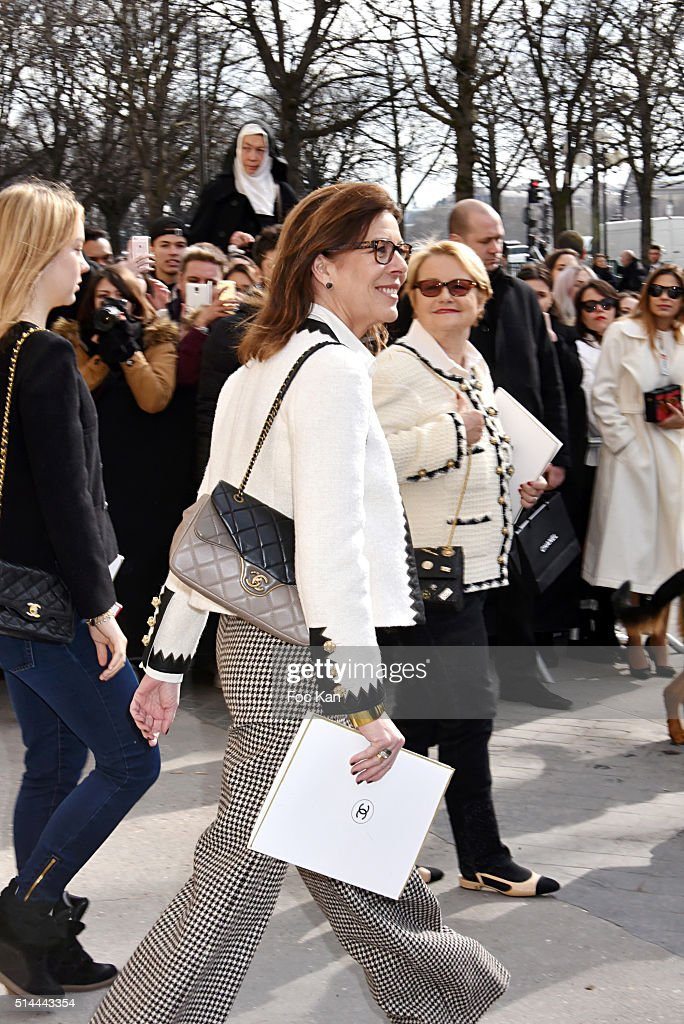Caroline de Monaco leaves the Chanel show as part of the Paris Fashion Week Womenswear Fall/Winter 2016/2017 on March 8, 2016 in Paris, France.