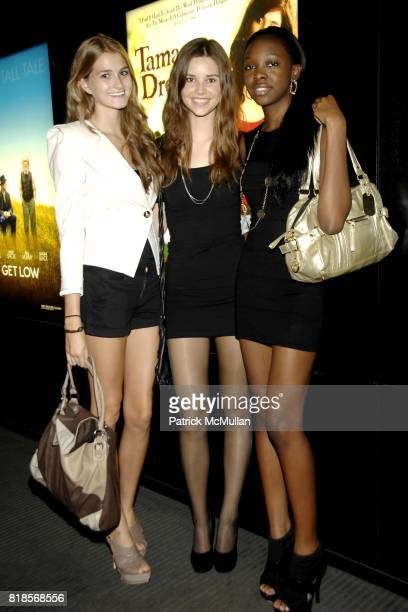 Caroline Debruho Morgan Chelf and Bri Walker attend LANC'ME Makeup Artist Screening of EAT PRAY LOVE at 550 Madison Avenue on August 12 2010 in New...
