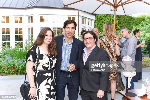 Caroline ElenowitzHess David Elenowitz and Alexandra ElenowitzHess attend Hamptons Event to Celebrate FIT at The Hornig Residence on July 21 2017 in...