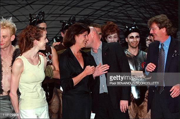 Caroline Ernst August and Charlotte at Monaco ballet premiere 'oeil pour oeil' in Monaco City Monaco on April 14 2001 Caroline Jacques Maillot Ernst...