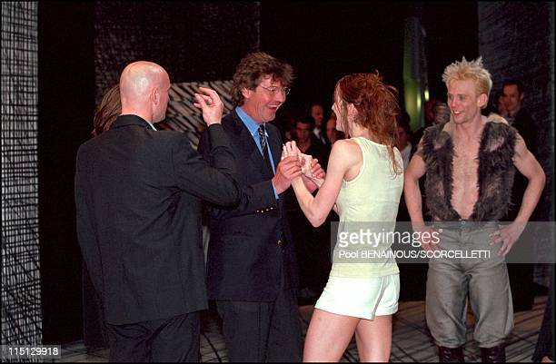 Caroline Ernst August and Charlotte at Monaco ballet premiere 'oeil pour oeil' in Monaco City Monaco on April 14 2001 Jacques Maillot Ernst August a...
