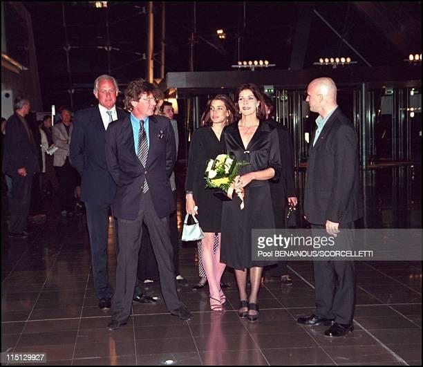 Caroline Ernst August and Charlotte at Monaco ballet premiere 'oeil pour oeil' in Monaco City Monaco on April 14 2001 Ernst August Charlotte Caroline...