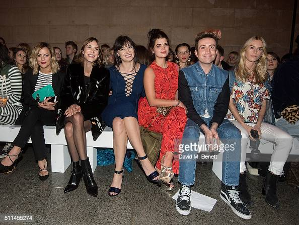 Caroline Flack Alexa Chung Daisy Lowe Pixie Geldof Nick Grimshaw and Mary Charteris attend the House of Holland show during London Fashion Week...