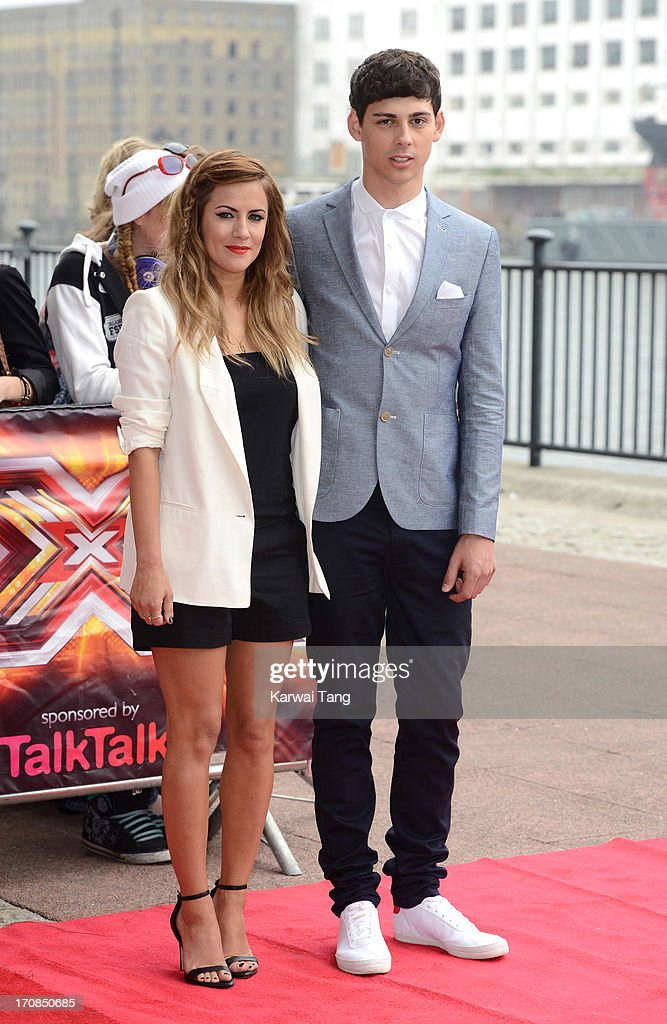 Caroline Flack and Matt Richardson arrive for the London auditions of 'The X Factor' at ExCel on June 19, 2013 in London, England.