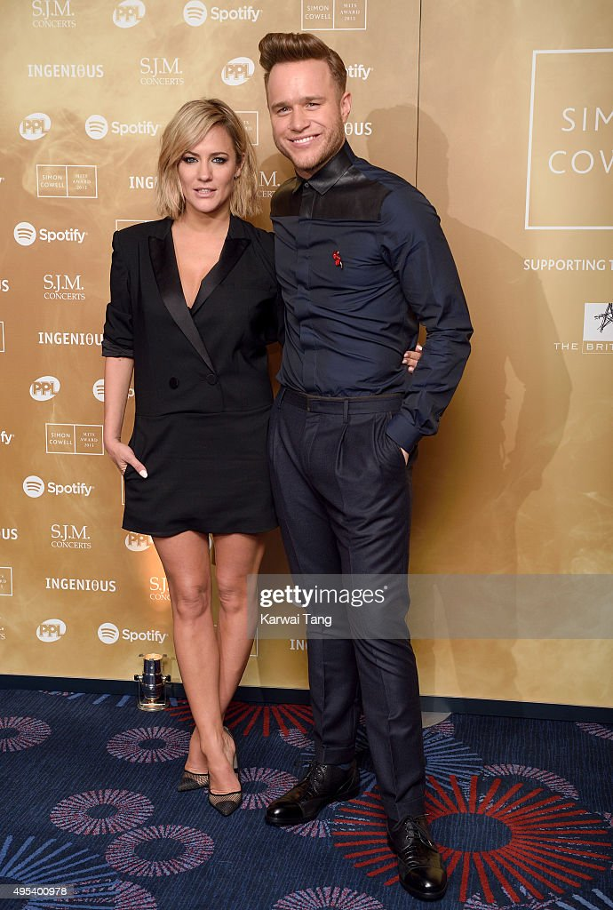 Caroline Flack and Olly Murs attend the Music Industry Trusts Awards in aid of the Nordoff Robbins charity and BRIT Trust at The Grosvenor House Hotel on November 2, 2015 in London, England.