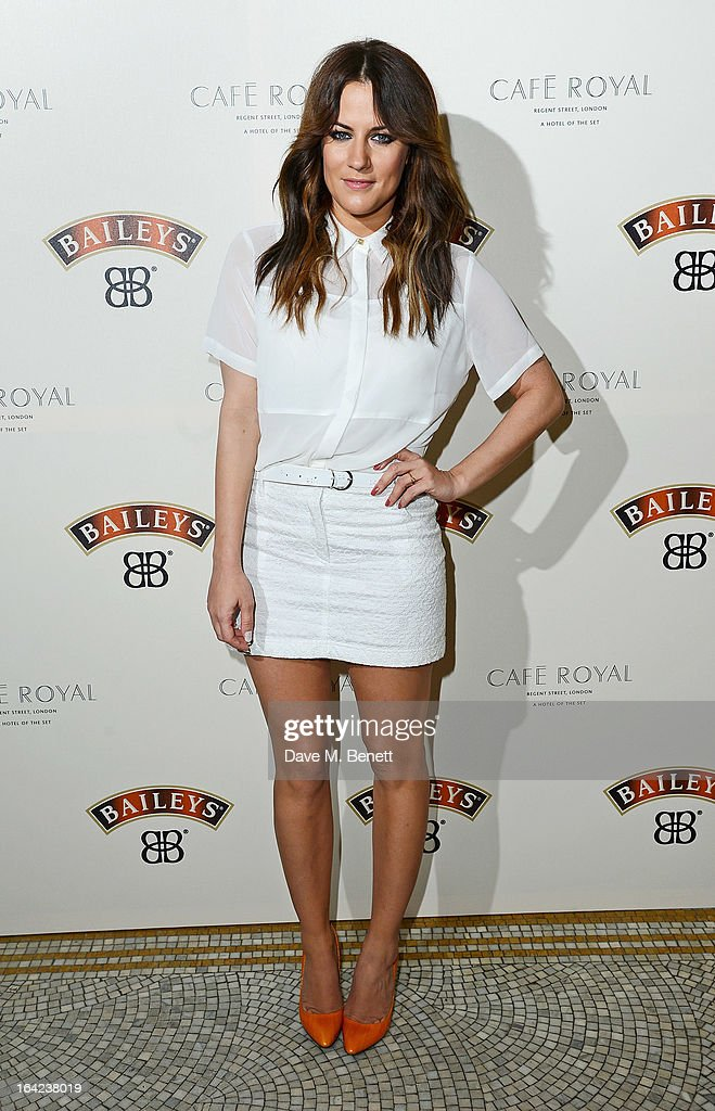 <a gi-track='captionPersonalityLinkClicked' href=/galleries/search?phrase=Caroline+Flack&family=editorial&specificpeople=4344399 ng-click='$event.stopPropagation()'>Caroline Flack</a> arrives at the launch of Baileys new sleek bottle design at the Cafe Royal hotel on March 21, 2013 in London, England.