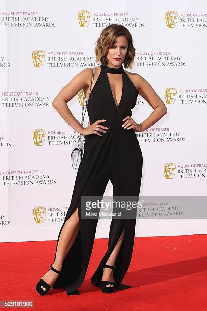 Caroline Flack arrives for the House Of Fraser British Academy Television Awards 2016 at the Royal Festival Hall on May 8 2016 in London England