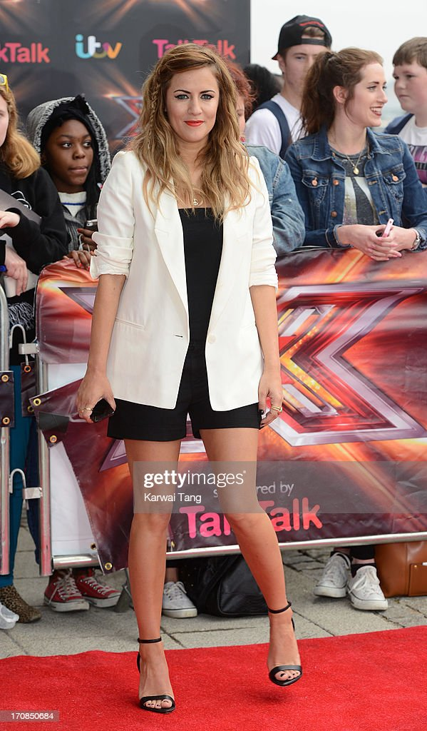 <a gi-track='captionPersonalityLinkClicked' href=/galleries/search?phrase=Caroline+Flack&family=editorial&specificpeople=4344399 ng-click='$event.stopPropagation()'>Caroline Flack</a> arrives for the London auditions of 'The X Factor' at ExCel on June 19, 2013 in London, England.