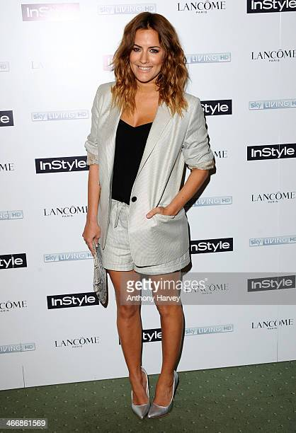 Caroline Flack attends InStyle magazine's The Best of British Talent preBAFTA party at Dartmouth House on February 4 2014 in London England
