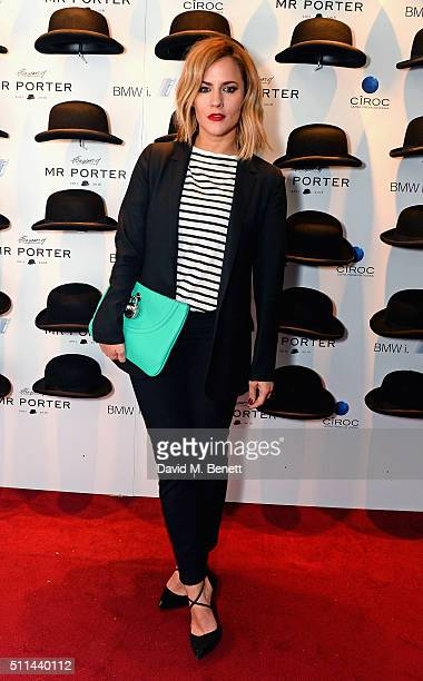 Caroline Flack attends Mr Porter's fifth birthday celebration at The Savile Club on February 20 2016 in London England