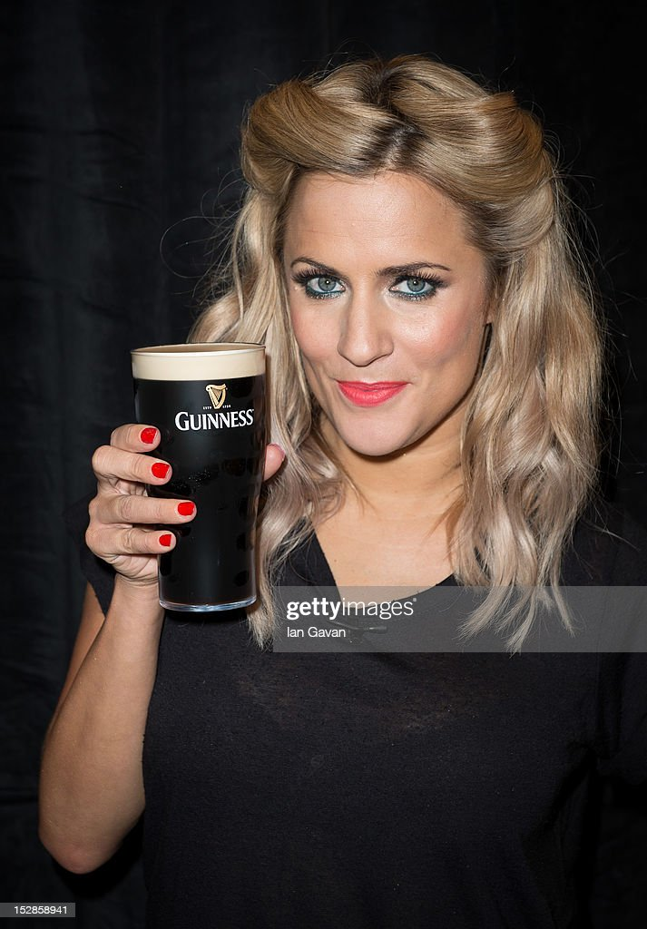 Caroline Flack attends the annual Arthur's Day celebrations at Senate House on September 27 2012 in London England Arthur's Day sees fans come...