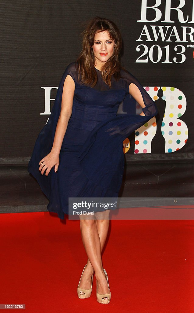 Caroline Flack attends the Brit Awards at 02 Arena on February 20, 2013 in London, England.