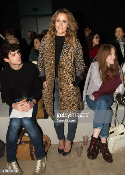 Caroline Flack attends the Fashion East show at Topshop Showspace Tate Modern during London Fashion Week AW14 on February 18 2014 in London England