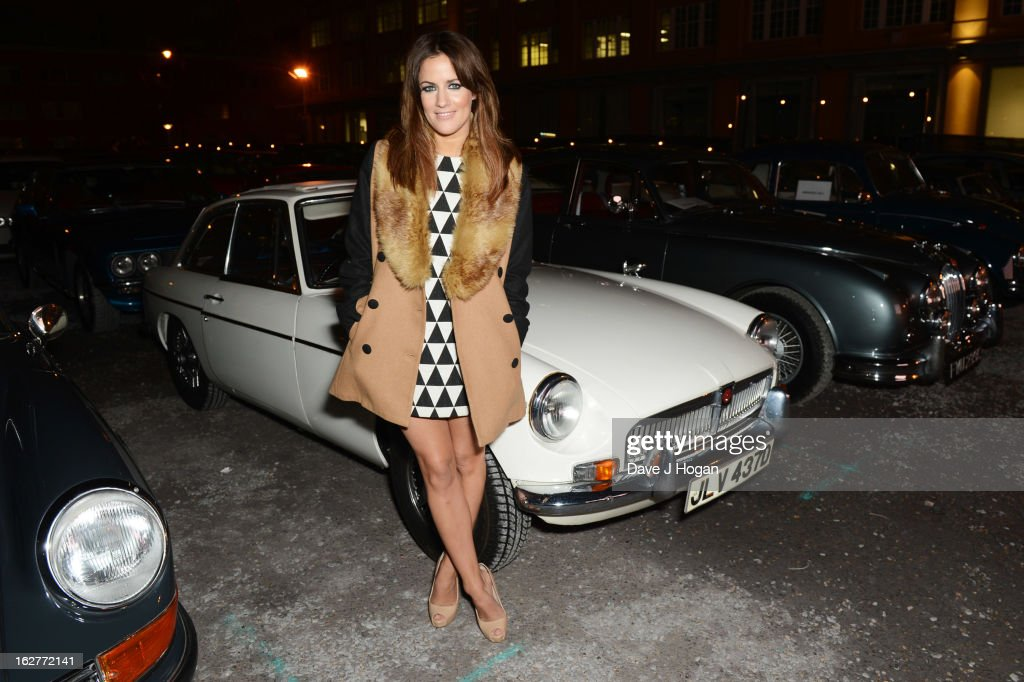 Caroline Flack attends the Galaxy Pop Up Drive-In Cinema at The Doon Street Car Park on February 26, 2013 in London, England.