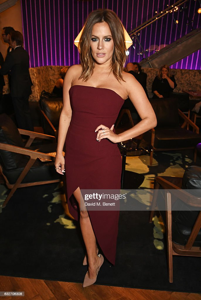 Caroline Flack attends the National Television Awards cocktail reception at The O2 Arena on January 25, 2017 in London, England.