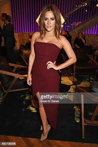 Caroline Flack attends the National Television Awards cocktail reception at The O2 Arena on January 25 2017 in London England