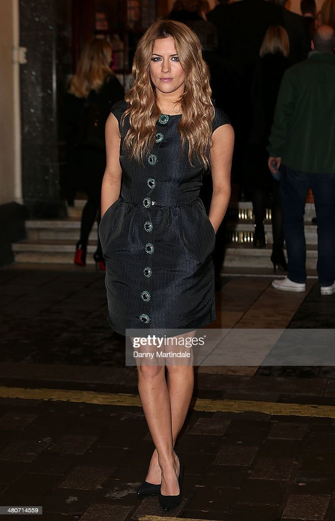Caroline Flack attends the press night of 'I Can't Sing! The X Factor Musical' at London Palladium on March 26, 2014 in London, England.