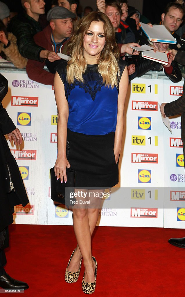 Caroline Flack attends the Pride Of Britain awards at Grosvenor House, on October 29, 2012 in London, England.