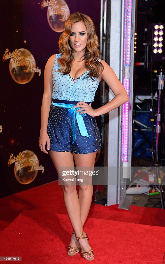 Caroline Flack attends the red carpet launch for Strictly Come Dancing 2014 at Elstree Studios on September 2, 2014 in Borehamwood, England.