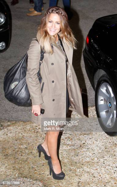 Caroline Flack departs the Fountain Studios after The X Factor on November 5 2011 in London England