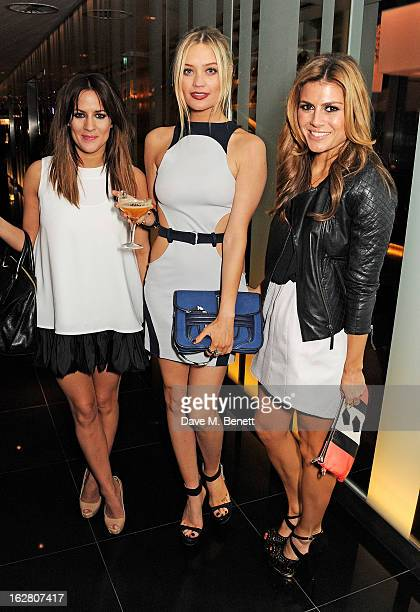 Caroline Flack Laura Whitmore and Zoe Hardman party in Wyld at W London Leicester Square after the NME Awards whilst drinking 'CIROC 'n' Roll'...