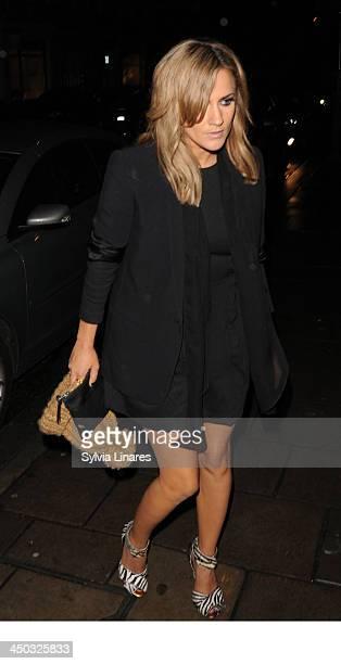 Caroline Flack leaving C Restaurant on November 17 2013 in London England