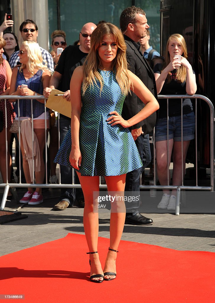 Caroline Flack sighpictured arriving at Wembley Arena for the X Factor auditions on July 15, 2013 in London, England.