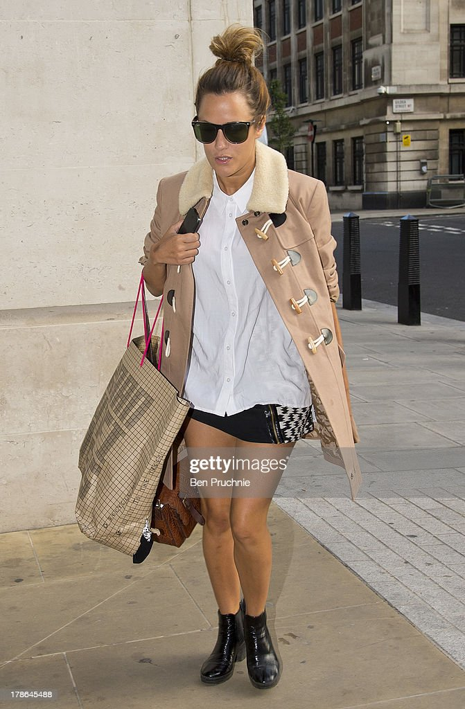<a gi-track='captionPersonalityLinkClicked' href=/galleries/search?phrase=Caroline+Flack&family=editorial&specificpeople=4344399 ng-click='$event.stopPropagation()'>Caroline Flack</a> sighted at BBC Radio studios on August 30, 2013 in London, England.
