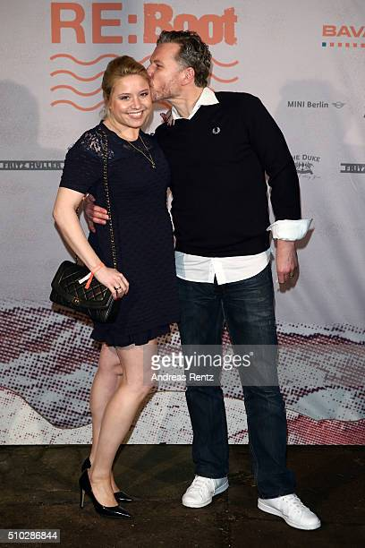 Caroline Frier and Dirk Borchardt attend the Bavaria Film Party REBOOT on February 14 2016 in Berlin Germany