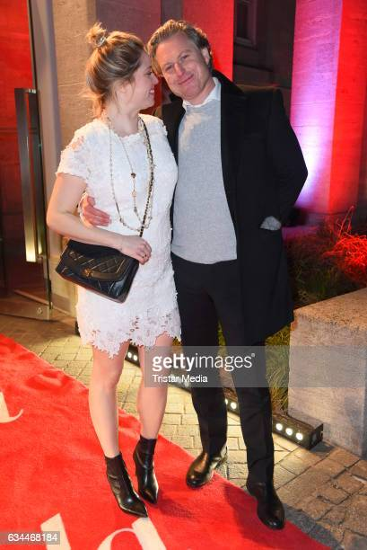 Caroline Frier and her husband Dirk Borchardt attend the Opening Night By GALA UFA on February 9 2017 in Berlin Germany