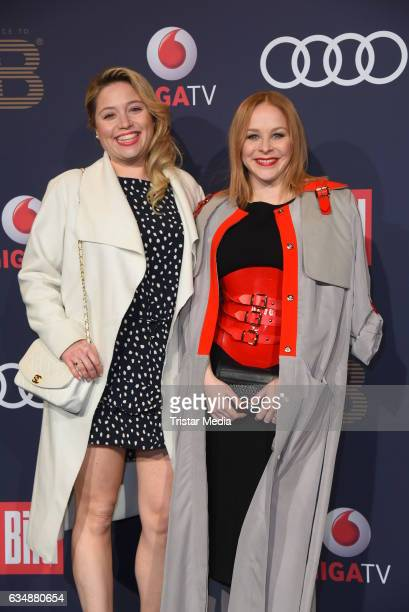 Caroline Frier and Jasmin Schwiers attend the PLACE TO B Party at Borchardt on February 11 2017 in Berlin Germany