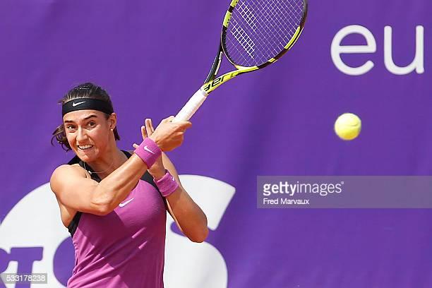 Caroline Garcia during the Internationaux de Strasbourg Final at Strasbourg Tennis Club on May 21 2016 in Strasbourg France