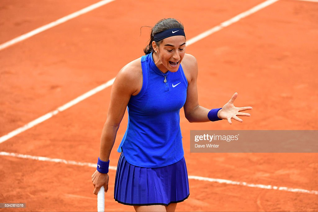 Caroline Garcia during the Women's Singles second round on day four of the French Open 2016 at Roland Garros on May 25, 2016 in Paris, France.