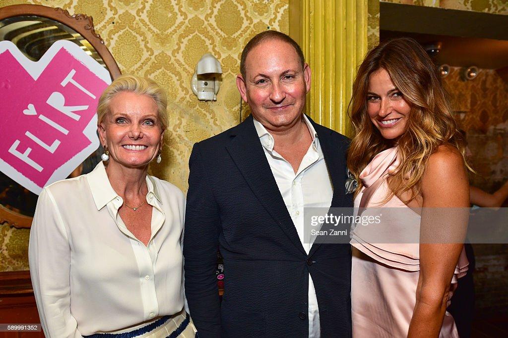 Caroline Geerlings John Demsey and Kelly Killoren Bensimon attend Donald Robertson John Demsey Celebrate the Launch of Flirt Cosmetics with Amber...