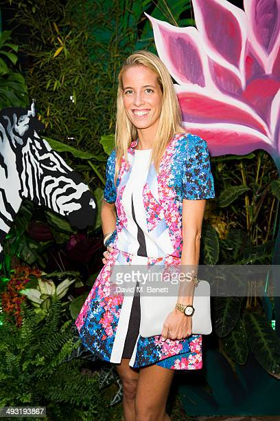 Caroline Gonzalez Bunster arrives at Roger Vivier Summer Party at Loulou's on May 22 2014 in London England
